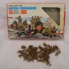 British Commandos plastic model soldiers, WWII, maker ESCI, army men