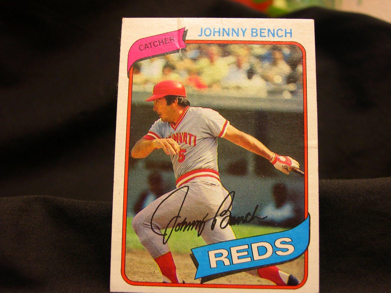 1980 Johnny Bench Baseball Cards Topps 100