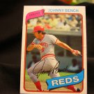 1980 Johnny Bench, baseball cards, Topps # 100