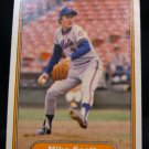 Mike Scott, Mets pitcher 1982, Fleer card 535, baseball card