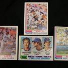 Topps baseball cards: # 205, 399, 524, 623; Mets pitchers, 1982