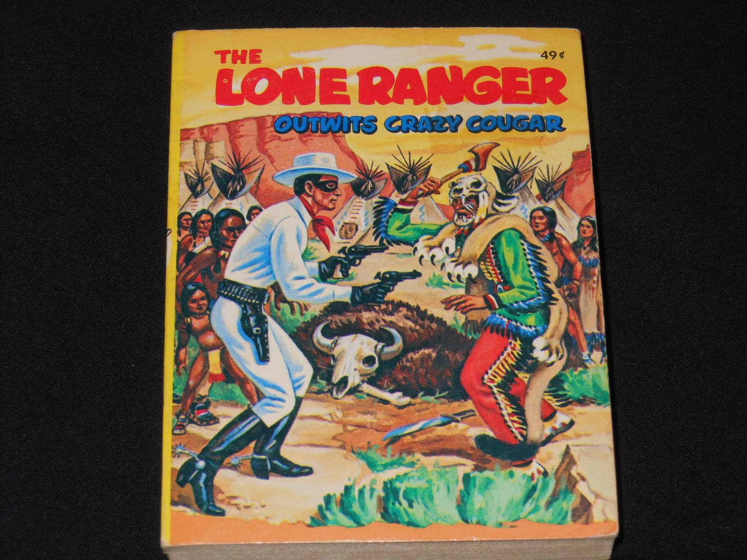 The Lone Ranger Outwits Crazy Cougar [1979] Whitman Big Little Book 5774-1 69¢