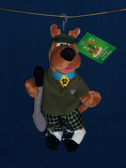 Golfer Scooby Doo Bean Bag from WB Studio Store FREE SHIPPING