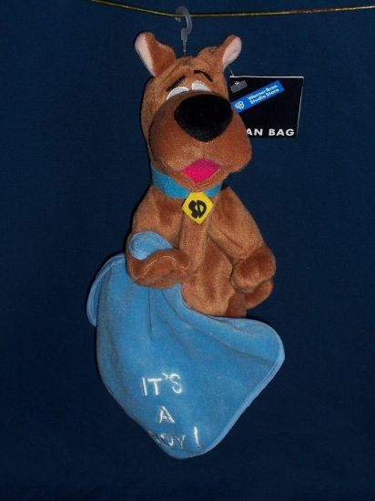 It's a Boy Blanket Scooby Doo Bean Bag from WB Studio Store FREE SHIPPING