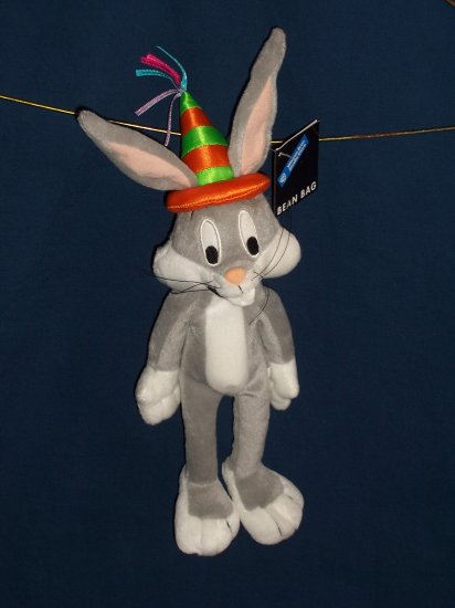 Birthday Hat Bugs Bunny Bean Bag from WB Studio Store FREE SHIPPING