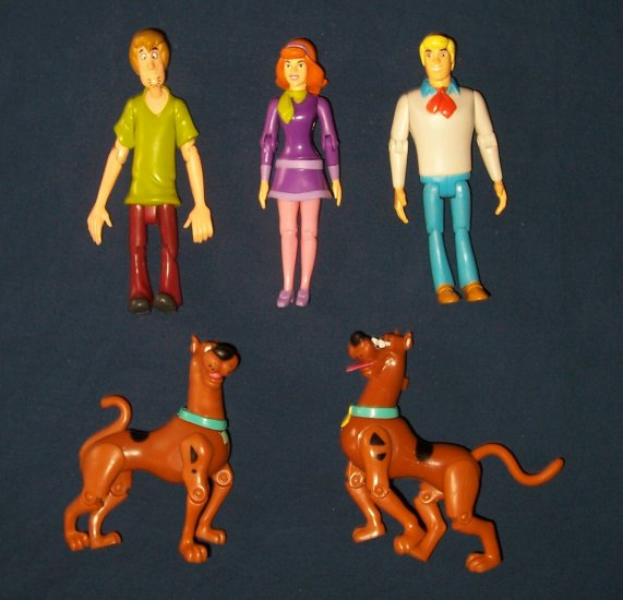 Scooby, Daphne, Fred and Shaggy Action Figures FREE SHIPPING