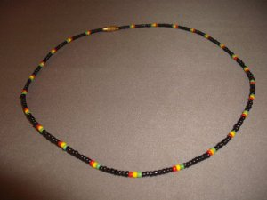 RASTA NECKLACE 16 INCH PEACE LOVE AND UNITY