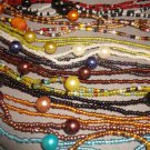 LONG BEAD NECKLACE APPROX 50 INCHES HAND MADE LARGE COLOUR RANGE ANY 4 FOR £10