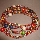 LONG BEAD NECKLACE ANY 4 FOR £10 APPROX 50 INCHES HAND MADE LARGE COLOUR RANGE