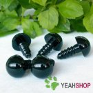 12mm Black Safety Eyes / Plastic Eyes - 5 pairs