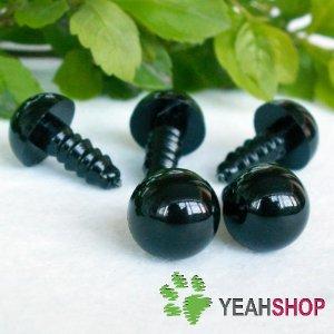 15mm Black Safety Eyes / Plastic Eyes - 5 pairs
