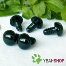 13mm Black Safety Eyes / Plastic Eyes - 5 pairs