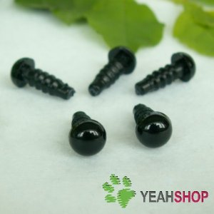 6.5mm Black Safety Eyes / Plastic Eyes - 10 pairs