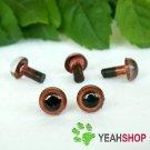 6mm Brown Safety Eyes / Plastic Eyes / Animal Eyes - 5 Pairs