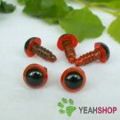 7mm Red Safety Eyes / Plastic Eyes / Animal Eyes - 5 Pairs