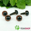 9mm Brown Safety Eyes / Plastic Eyes / Animal Eyes - 5 Pairs