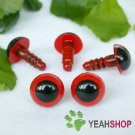 10mm Red Safety Eyes / Plastic Eyes / Animal Eyes - 5 Pairs