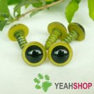 12mm Grass Green Safety Eyes / Plastic Eyes / Animal Eyes - 5 Pairs