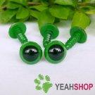 12mm Green Safety Eyes / Plastic Eyes / Animal Eyes - 5 Pairs