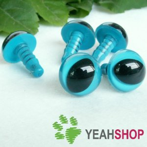 12mm Blue Safety Eyes for Cat / Plastic Eyes / Animal Eyes - 5 Pairs