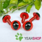 12mm Red Safety Eyes for Cat / Plastic Eyes / Animal Eyes - 5 Pairs