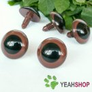 22mm Brown Safety Eyes / Plastic Eyes / Animal Eyes - 2 Pairs