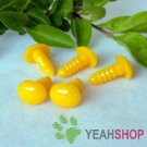 10mmx8mm Yellow Oval Safety Eyes / Plastic Eyes / Animal Eyes - 10 Pairs