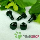 6mm Black Round Flat Safety Eyes / Plastic Eyes / Animal Eyes - 10 Pairs