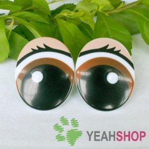 31mmx39mm Eyelash Comic Eyes / Safety Eyes / Printed Eyes