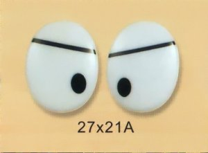 27mmx21mm (A) Oval Comic Eyes / Safety Eyes / Printed Eyes
