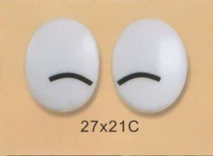 27mmx21mm (C) Oval Comic Eyes / Safety Eyes / Printed Eyes