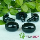 19mmx14mm Black Oval Safety Nose / Plastic Nose / Animal Nose - 5 pcs