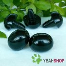 23mmx18mm Black Oval Safety Nose / Plastic Nose / Animal Nose - 5 pcs