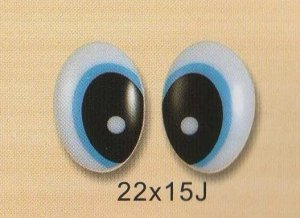 22mmx15mm (J) Comic Eyes / Safety Eyes / Printed Eyes