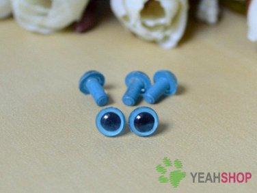 6mm Blue Safety Eyes / Plastic Eyes / Animal Eyes - 5 Pairs