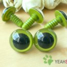 15mm Grass Green Safety Eyes / Plastic Eyes / Animal Eyes - 5 Pairs