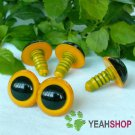 15mm Yellow Safety Eyes / Plastic Eyes / Animal Eyes - 5 Pairs