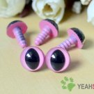 12mm Pink Safety Eyes for Cat / Plastic Eyes / Animal Eyes - 5 Pairs