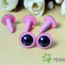 12mm Pink Safety Eyes / Plastic Eyes / Animal Eyes - 5 Pairs
