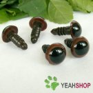 10mm Brown Safety Eyes / Plastic Eyes / Animal Eyes - 5 Pairs