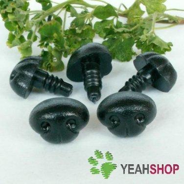 15mmx11mm Black Dog Nose / Safety Nose /Plastic Nose - 5 pcs