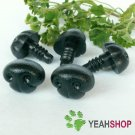 18mmx13mm Black Dog Nose / Safety Nose /Plastic Nose - 5 pcs