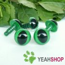 9mm Green Safety Eyes for Cat / Plastic Eyes / Animal Eyes - 5 Pairs