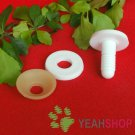 55mm Doll Joints / Animal Joints / Bear Joints / Safety Joints - White - 4 Sets