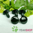 18mm Black Round Flat Safety Eyes / Plastic Eyes / Animal Eyes - 5 Pairs