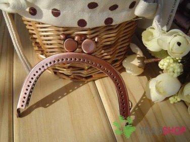 Antique Copper Purse Frame - Half Round Mickey Mouse - 8.5cm / 3.3 inch (PF85-9)