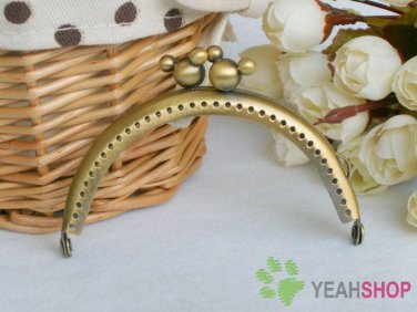 Half Round Antique Brass 3D Mickey Purse Frame - 8.5cm / 3.3 inch (PF85-10)