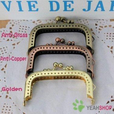 Antique Copper Rectangle Worm Little Sew on Purse Frame - 7cm / 2.8 inch (RPF-7)