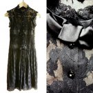 Cocoon Dressy Black Stretch Lace Cocktail Party Occasion Dress /w Satin Bows XXS