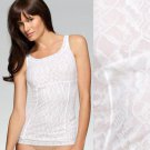 NWT Maidenform Low-Cal Dressing White Lace Shaping Slimming Camisole #40949 L